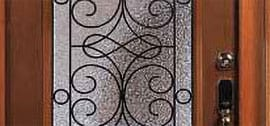 entry door with wrought iron