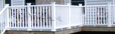 railing installation on porch