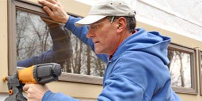 Frank installing window