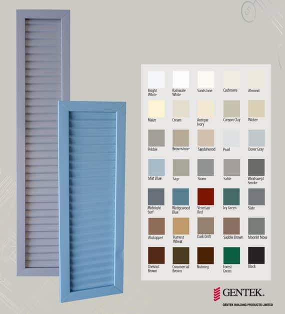 gentek window colours